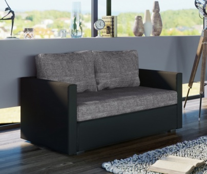 vcm gruppe vcm 2er couch sinsa schwarz sofa mit schlaffunktion. Black Bedroom Furniture Sets. Home Design Ideas
