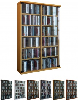 vcm group vcm regal dvd cd rack medienregal medienschrank aufbewahrung holzregal standregal. Black Bedroom Furniture Sets. Home Design Ideas