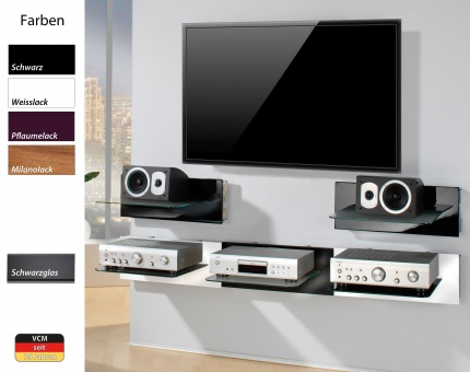 vcm gruppe vcm paneel hifi halterung receiver dvd player. Black Bedroom Furniture Sets. Home Design Ideas