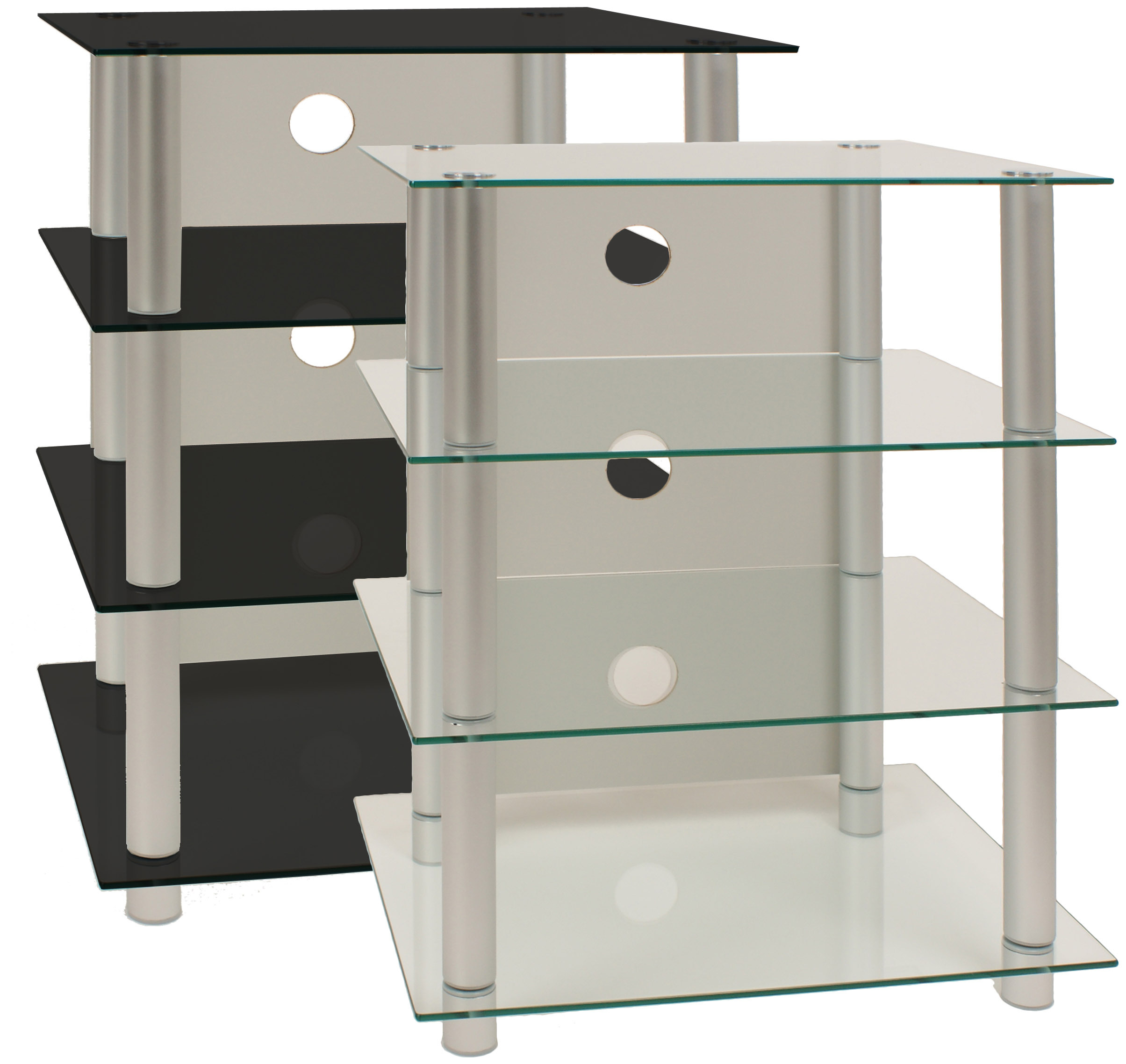 vcm gruppe hifi m bel rack phonom bel regal tisch alu glas. Black Bedroom Furniture Sets. Home Design Ideas