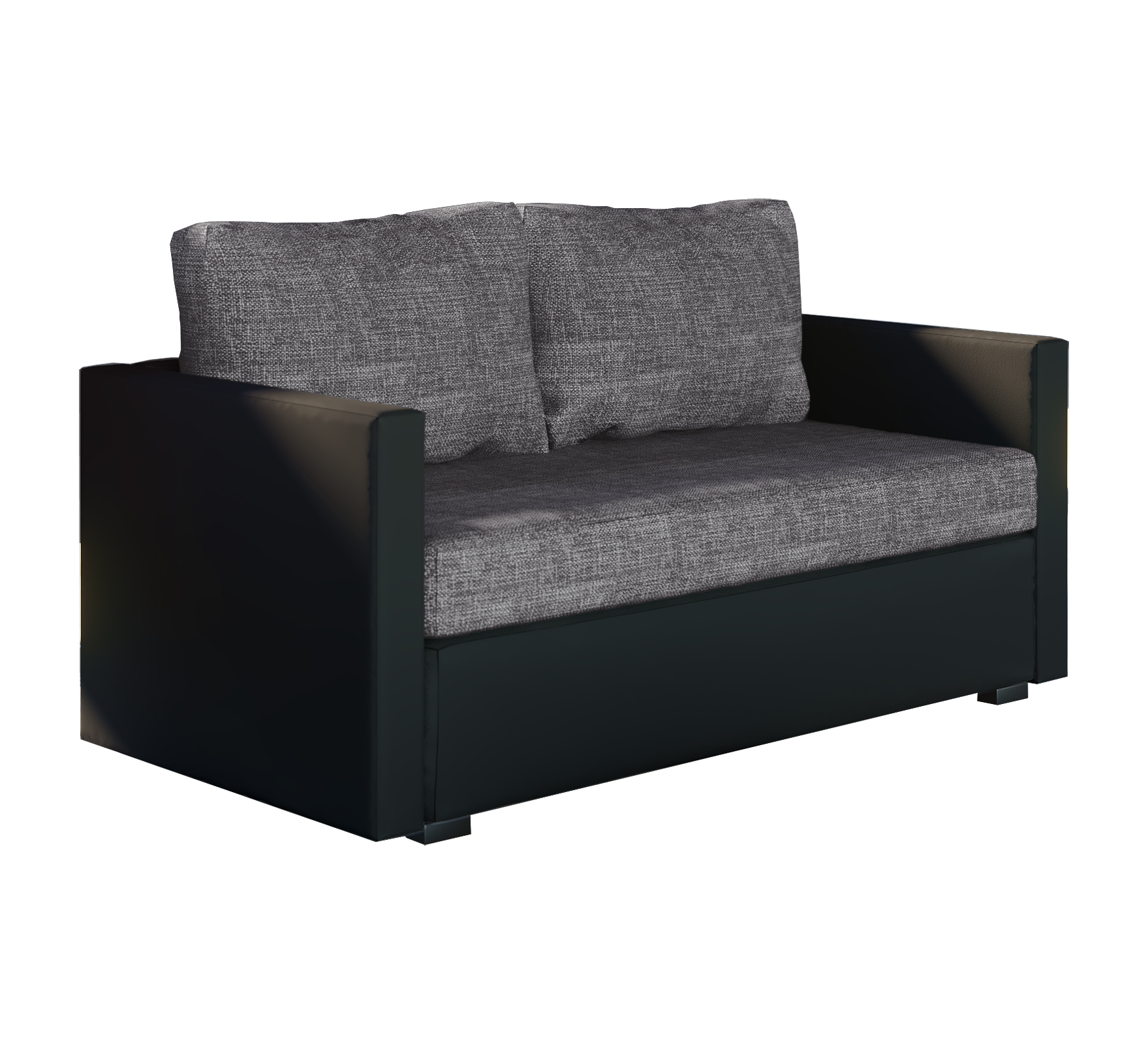 vcm group vcm 2er schlafsofa sofabett couch sofa mit schlaffunktion sinsa schwarz 60 x 122 x. Black Bedroom Furniture Sets. Home Design Ideas