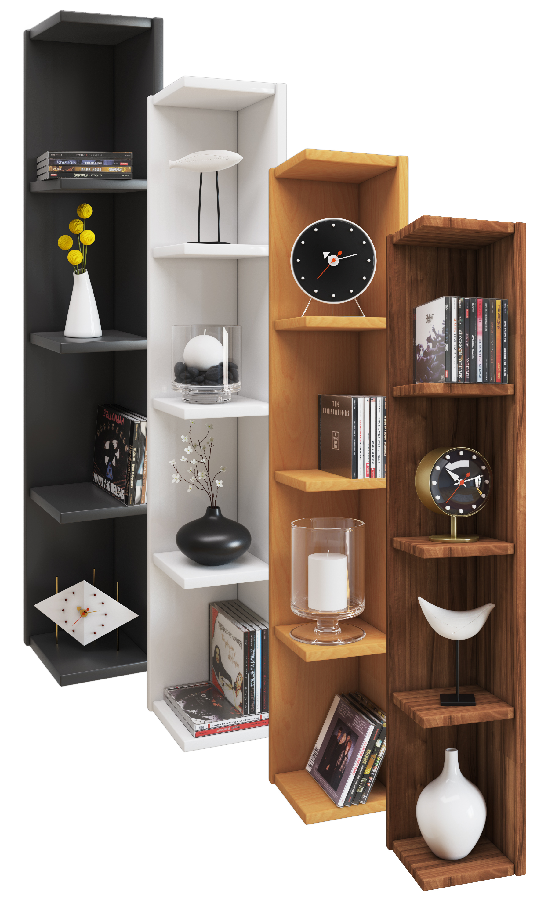 vcm gruppe vcm eckregal wandregal standregal b cherregal cd dvd regal holz board honsa. Black Bedroom Furniture Sets. Home Design Ideas
