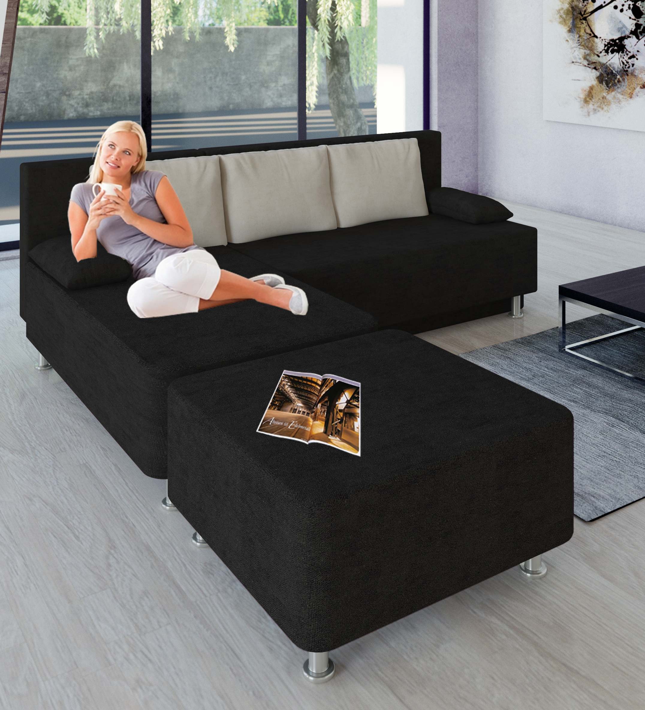 vcm gruppe vcm schlafsofa wohnlandschaft ecksofa couch. Black Bedroom Furniture Sets. Home Design Ideas