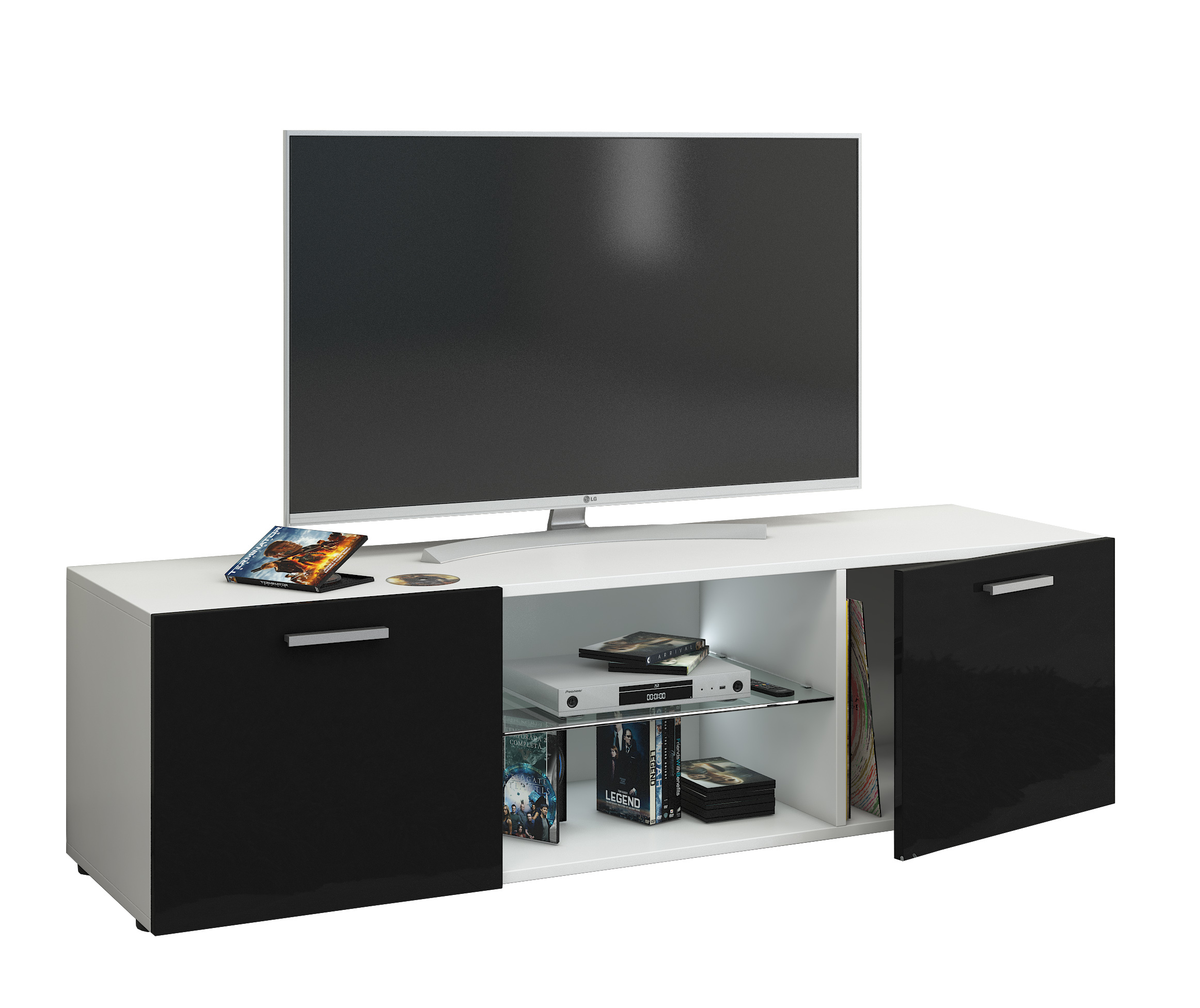 vcm gruppe vcm tv lowboard fernsehtisch rack phono m bel. Black Bedroom Furniture Sets. Home Design Ideas