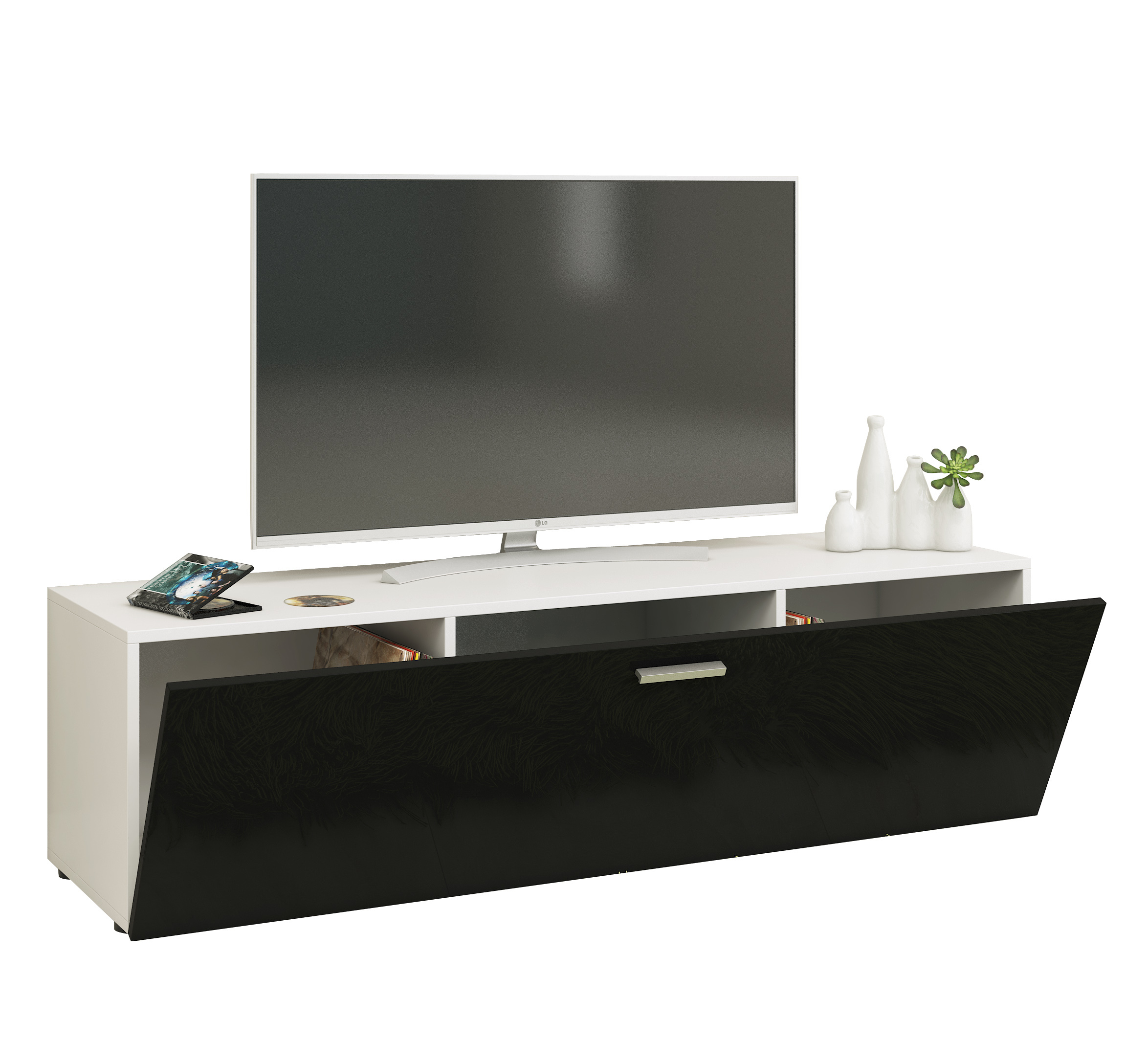 vcm gruppe vcm tv lowboard fernsehtisch rack phono m bel tisch holz sideboard medienrack. Black Bedroom Furniture Sets. Home Design Ideas