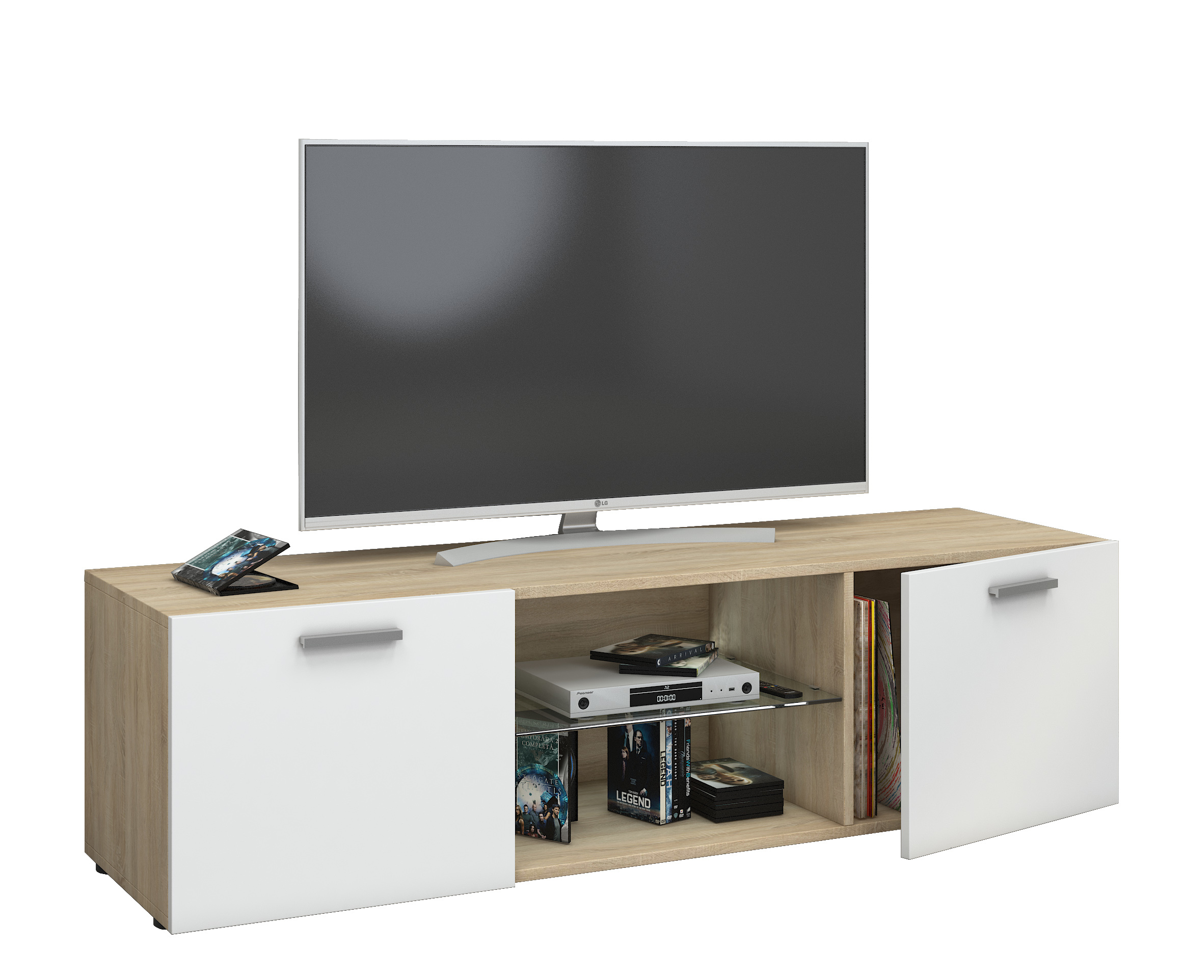 vcm gruppe vcm tv lowboard fernsehtisch schrank m bel tisch holz sideboard medien rack. Black Bedroom Furniture Sets. Home Design Ideas